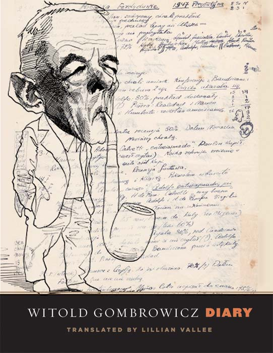 Cover of Witold Gombrowicz Diary, published by Yale Books